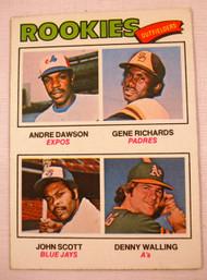 1977 Topps #473 1977 Rookie Outfielders Andre Dawson, Gene Richards, John Scott, Denny Walling EXMT ROOKIE CARD