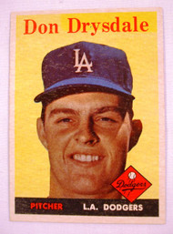 1958 Topps #25 Don Drysdale EXMT