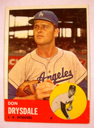 1963 Topps #360 Don Drysdale EX