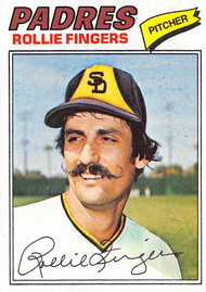 1977 Topps #523 Rollie Fingers EXMT