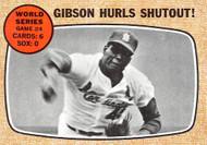 1968 Topps #154 Gibson Hurls Shutout EXMT