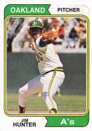 1974 Topps #7 Jim Hunter VG (74T7VG)