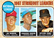 1968 Topps #11 NL 1967 SO Leaders VGOC Bunning, Jenkins, G. Perry. (68T11VGOC)
