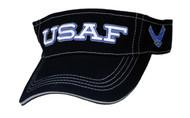 U.S. AIR FORCE VISOR Official item Black color Velcro back