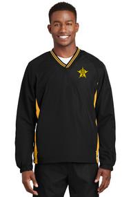 Sport-Tek® Tipped V-Neck Raglan Wind Shirt