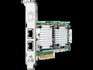 HPE 656596-B21 Dual Port 10Gbps Ethernet PCI Express 2.0 x8 530T Network Adapter for ProLiant Gen9 Gen10 and Apollo Gen9 Gen10 Servers (3 Years Warranty)