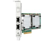 HPE 657128-001 Dual Port 10Gbps Ethernet PCI Express 2.0 x8 530T Network Adapter for ProLiant Gen9 Gen10 and Apollo Gen9 Gen10 Servers (3 Years Warranty)