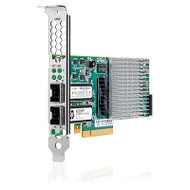 HPE 615406-001 10Gb PCI Express 2.0 x8 Dual Port Ethernet Multifunction Network Adapter for Proliant Gen8 and Gen9 Server (3 Years Warranty)