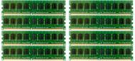 HP 495605-B21 64GB ( 8x8GB ) Dual Rank 667MHz ECC Registered CL-5 PC2-5300 240Pin DDR2 SDRAM Memory for Proliant Server