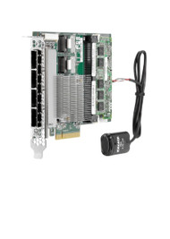 HPE 615418-B21 P822 2GB Dual Ports Internal / Quad-Ports External 8 Channel PCI Express 3.0 x8 SATA-6Gbps / SAS-6Gbps Flash Backed Write Cache Smart Array RAID Storage Controller