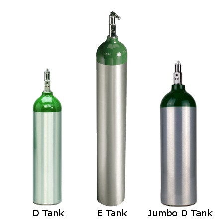 Hook up portable oxygen tank