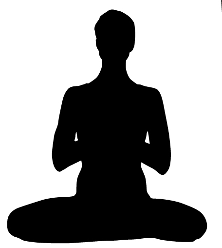 Silhouette Of Meditation Yoga Pose