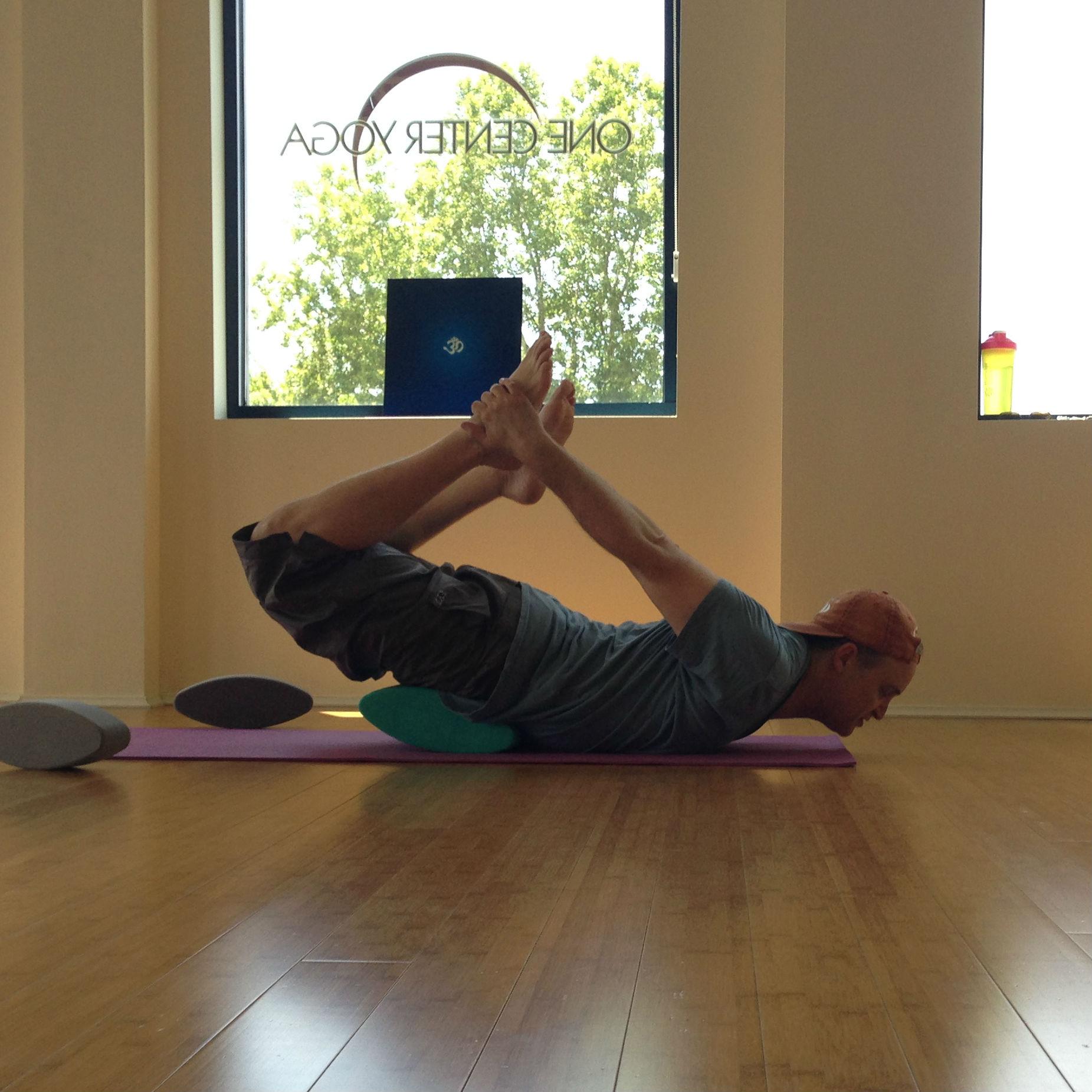 Tips for Bow Pose using ergonomic yoga blocks by Three Minute Egg