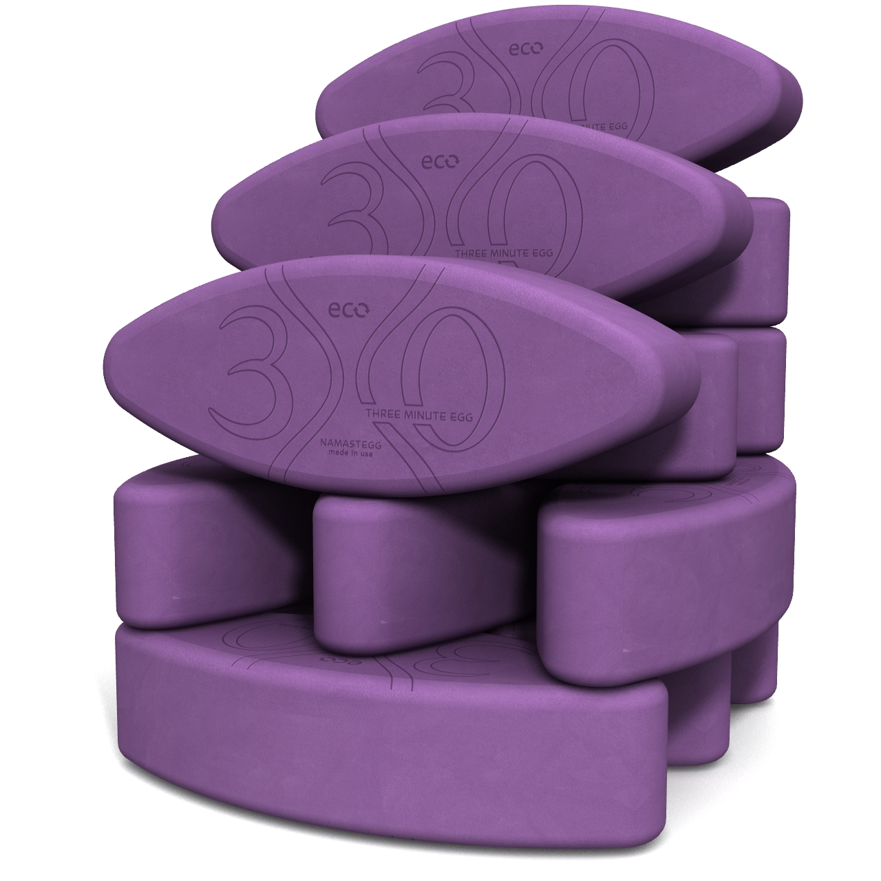 Yoga Eggs Teacher's Dozen Eco Purple