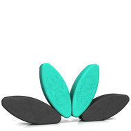 Biodegradable foam yoga block set Shakti Snack by Three Minute Egg ® in colors Teal Green and Charcoal Gray