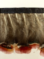"3"" FEATHER FRINGE-1/N                            CREAM,GREEN ,RUST,LIGHT BROWN & DARK BROWN"