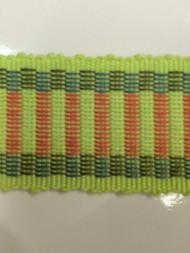 """1.5"""" COTTON GIMP HEADER-5/13-20-41          MINT GREEN,PINK & TEAL BLUE"""