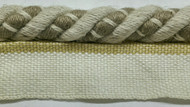 "3/8"" LINEN  ROUND CORD EDGE WITH LIP-2-L/6        NATURAL DARK TAN"