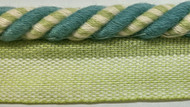 "3/8"" COTTON ROUND CORD EDGE CE-3/44-13-2       TURQUOISE BLUE, MINT & CREAM"