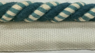 "3/8"" ROUND CORD EDGE CE-3/2-46-44         CREAM,NAVY BLUE & TURQUOISE BLUE"