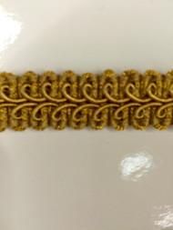"5/8"" GIMP HEADER-14/12              ANTIQUE GOLD"
