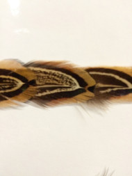 "1/2"" FEATHER BRAID      fb-8        NATURAL DARK TAN & GREY"