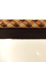"3/8"" Round Leatherlike Braid Cord Edge.    L-6/8-53    Brown Multi"