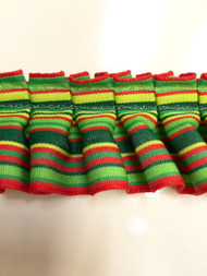 "1.5"" BOX PLEAT EDGE/025                         RED,LIGHT GREEN,YELLOW & GREEN"