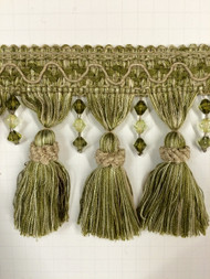 "4"" TASSEL FRINGE -8/14-15      LIGHT GREEN & GREEN"
