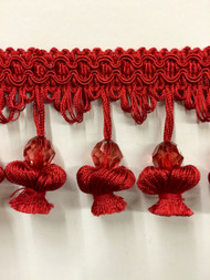 "3"" ONIONTASSEL FRINGE -20/30          RED"