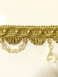 "3""TASSEL FRINGE -28/12    ANTIQUE GOLD"