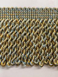 """2.5"""" BULLION FRINGE-1/38-11        LIGHT BLUE & GOLD"""