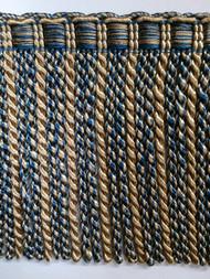"""6"""" BULLION FRINGE-6/41-3         COPEN BLUE & BEIGE"""