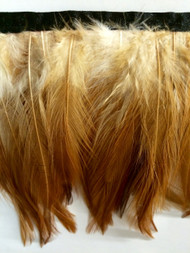 "6"" FEATHER FRINGE      FF-2   RUST & CREAM"