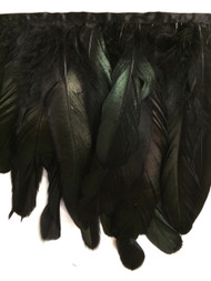 "7"" FEATHER FRINGE-5/51          BLACK & GREEN"