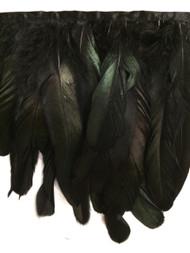 "7"" FEATHER FRINGE-5/51          BLACK & GREEN"