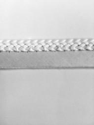 """1/4"""" FLAT LEATHERLIKE BRAIDED CORD EDGE-L-3/1           WHITE"""
