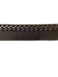 "1/4"" FLAT LEATHERLIKE BRAIDED CORD EDGE-L-3/47          BLACK"