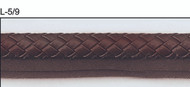 "1/4"" ROUND LEATHERLIKE BRAIDED CORD EDGE-L-4/9        BROWN"