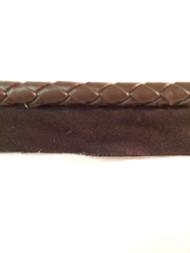 "5/16"" Round Leatherlike Braid Cord Edge.    L-5/9    Brown"