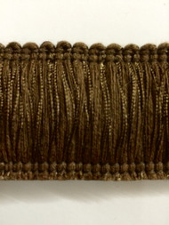 "2"" BRUSH FRINGE-1/8    CHOCOLATE BROWN"