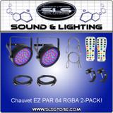 Chauvet DJ EZ Par 64 RGBA 2 Pack + Extras!