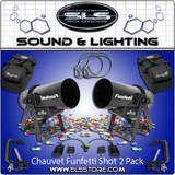 Chauvet DJ Funfetti Shot Confetti Launcher 2 Pack + Extras!