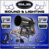 Chauvet DJ Funfetti Shot Confetti Launcher Single Package + 4 Boxes Confetti!