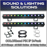 (2) CHAUVET COLORband Pix IP LED Wash Strip Lights Indoor/Outdoor