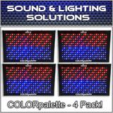 (4) Chauvet DJ COLORpalette 288 LED RGB Panel Wash