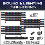 (12) Chauvet DJ COLORstrip LED Linear Wash Package