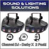 (2) Chauvet DJ Derby X Moonflower LED Effect Light Package