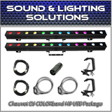 (2) Chauvet DJ COLORband H9 USB Hex Package