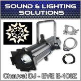 Chauvet DJ EVE E-100Z 100W LED Warm White Gobo Projector Spot  Package